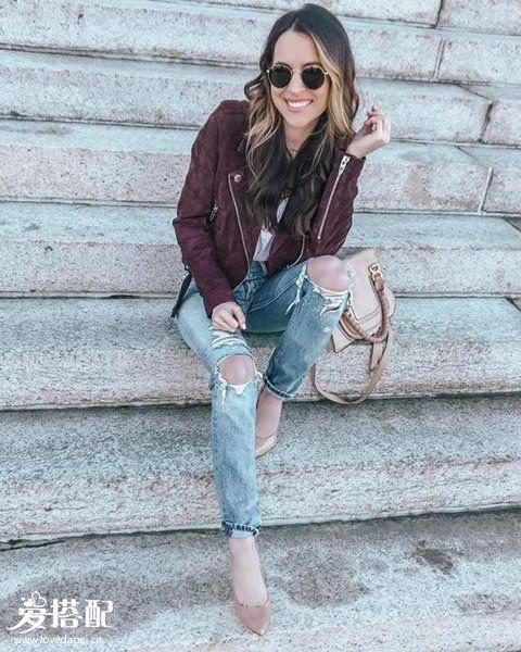 基础的牛仔裤怎样穿搭的很时尚?春季牛仔裤优雅搭配攻略